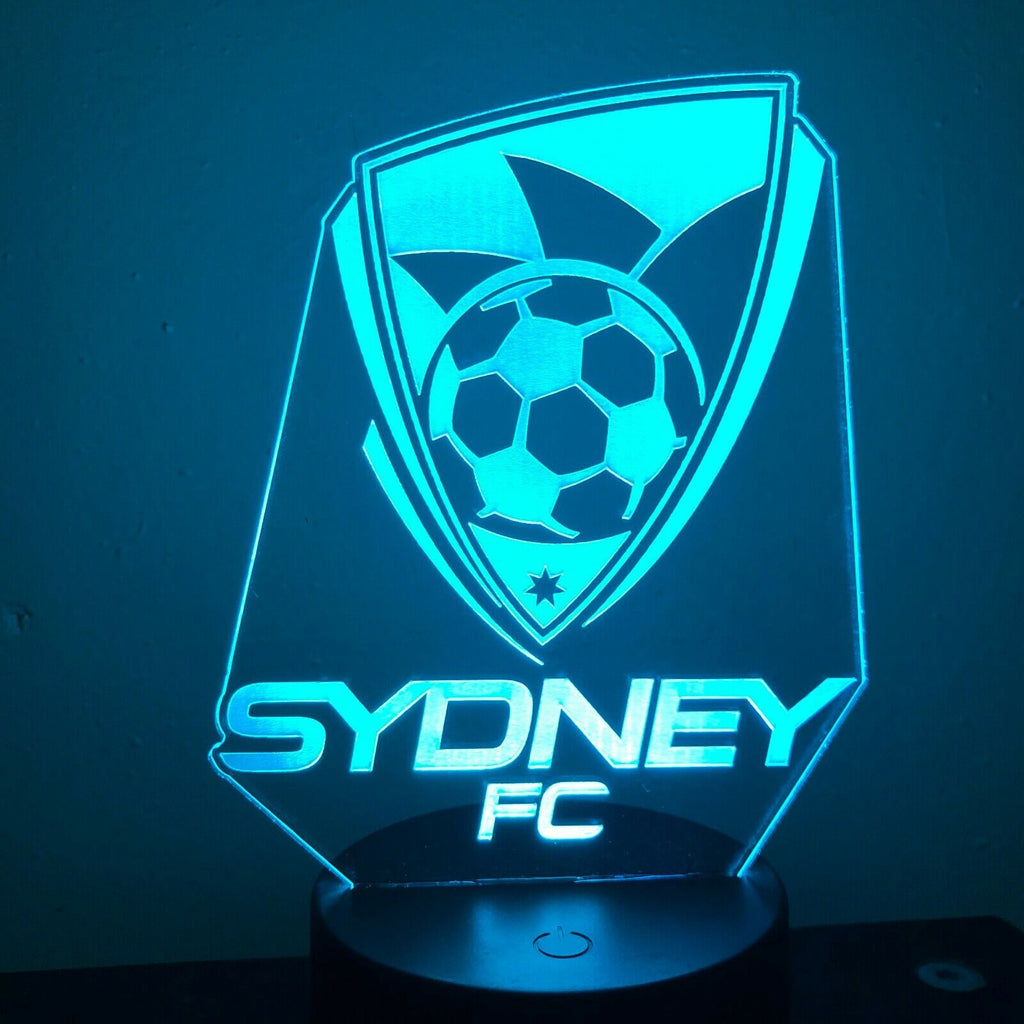 SYDNEY FC SOCCER FOOTBALL 3D NIGHT LIGHT - Eyes Of The World