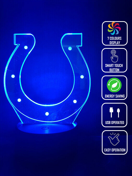 INDIANAPOLIS COLTS FOOTBALL 3D NIGHT LIGHT - Eyes Of The World