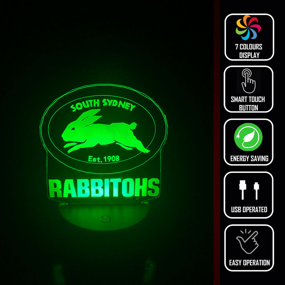 SYD RABBITHOS FOOTBALL NRL 3D NIGHT LIGHT - Eyes Of The World
