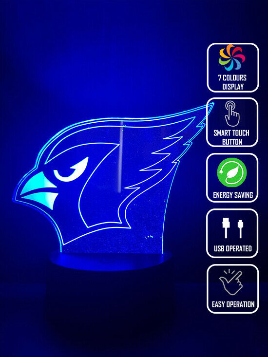 ARIZONA CARDINALS FOOTBALL 3D NIGHT LIGHT - Eyes Of The World