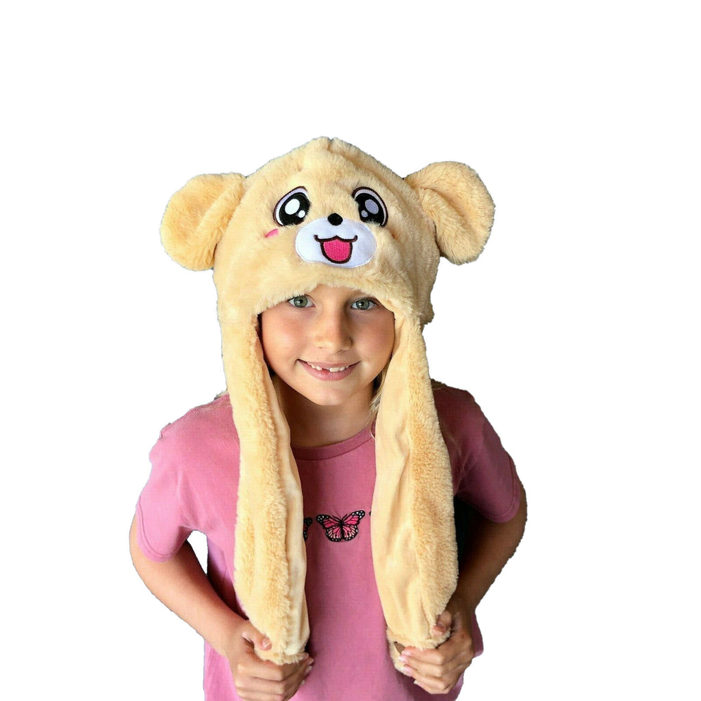 Animal Bunny Pop Ear Hats Beanie Winter BROWN DOG - Eyes Of The World