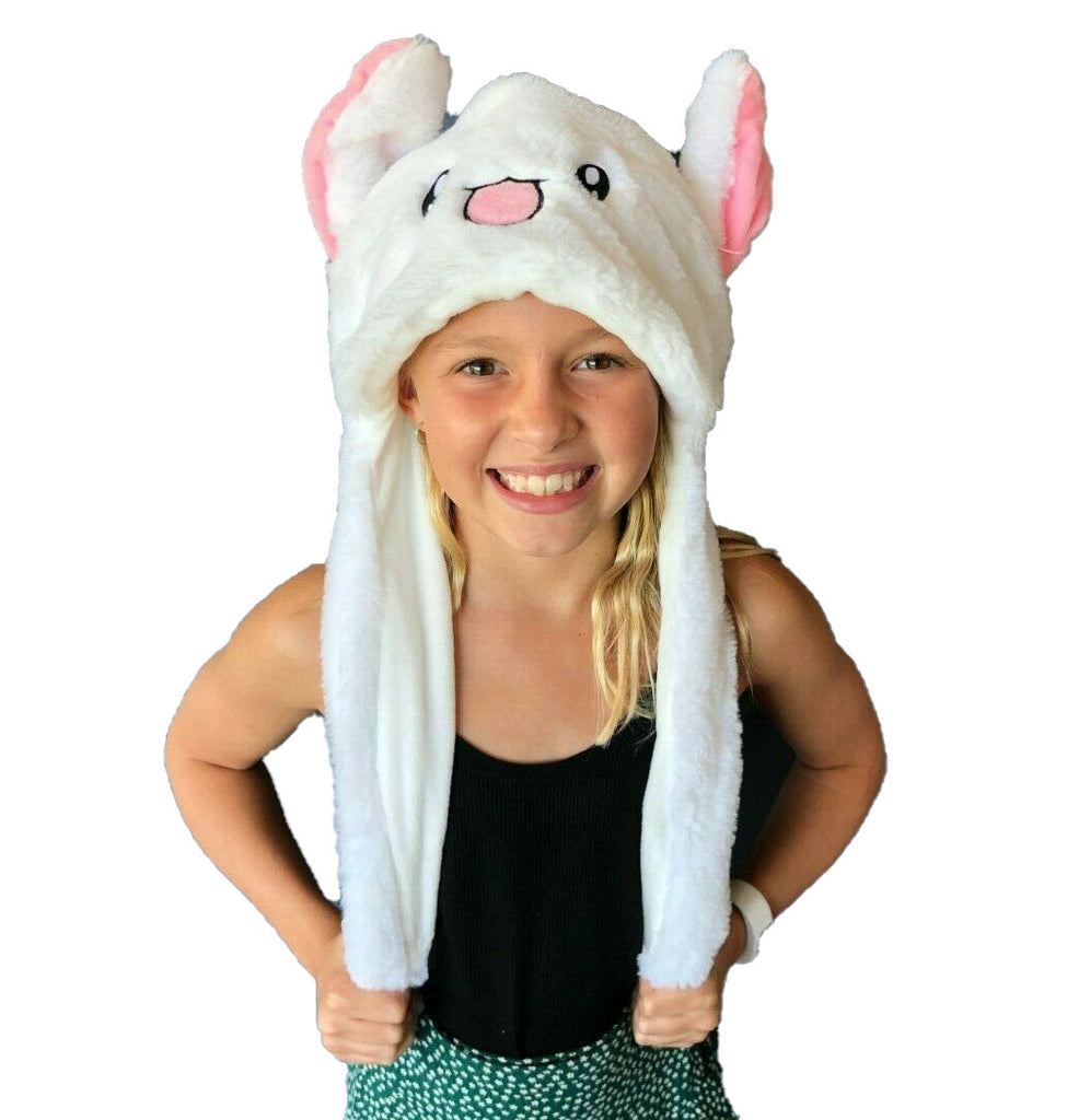 Animal Bunny Pop Ear Hats White Bunny - Eyes Of The World