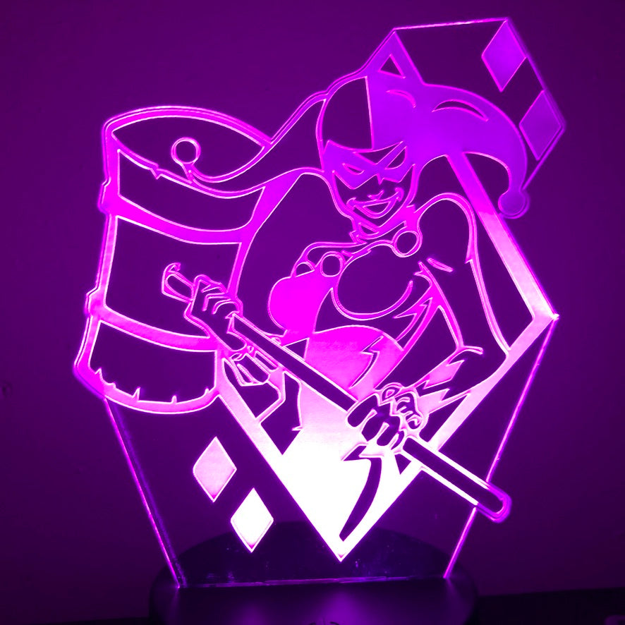 HARLEY QUINN HAMMER 3D NIGHT LIGHT - Eyes Of The World