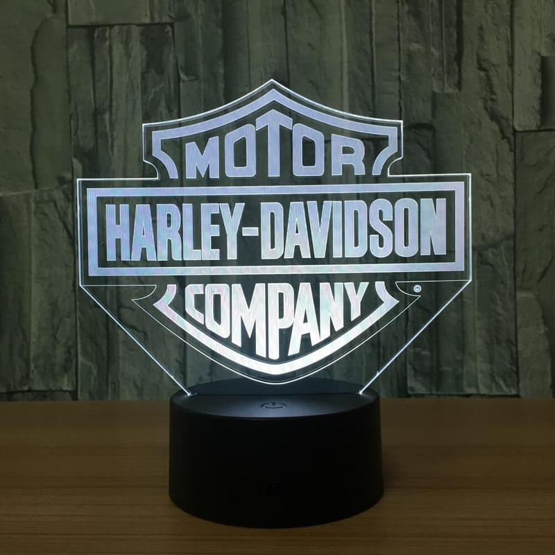 HARLEY DAVIDSON LOGO 3D NIGHT LIGHT - Eyes Of The World