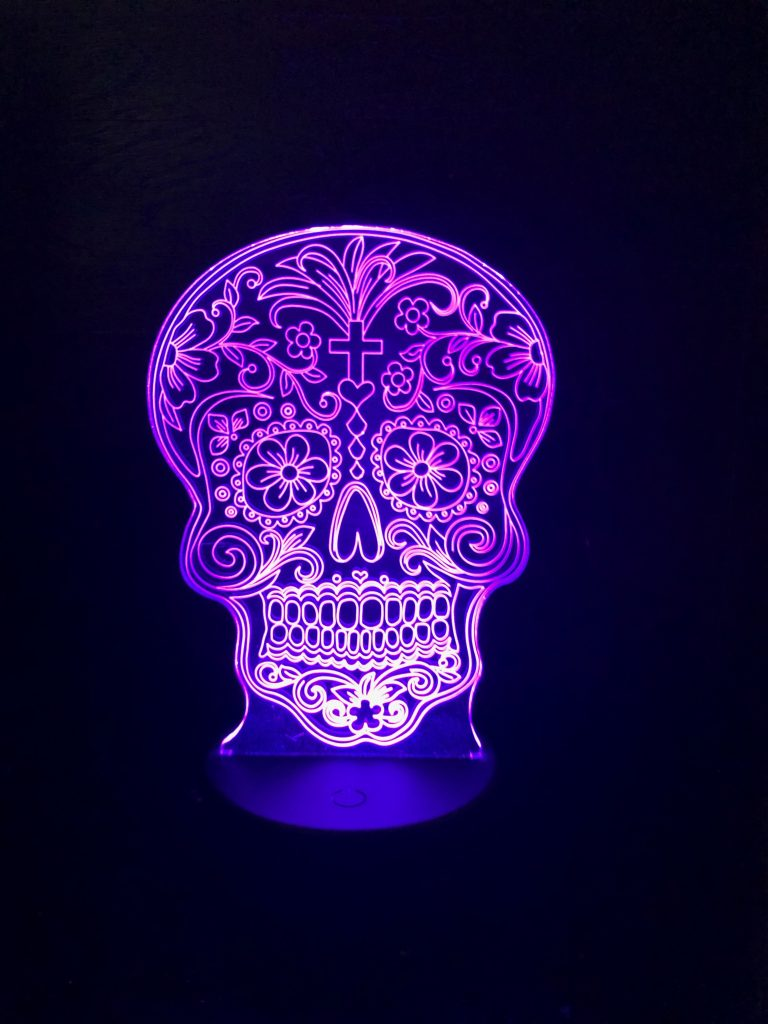 MEXICAN SUGAR SKULL 3D NIGHT LIGHT - Eyes Of The World