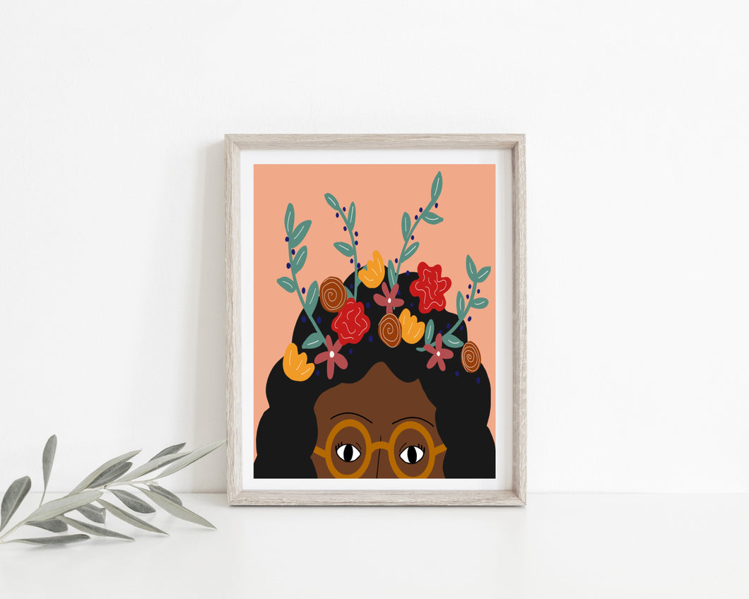 Flower Girl Wall Print