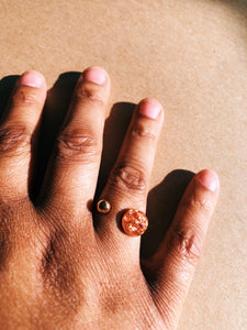Rose Gold Flaked Ring