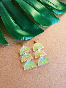 Iridescent Flower Dangles