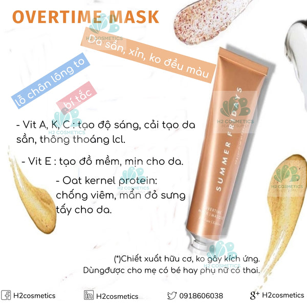 Mặt nạ Summer Friday Overtime
