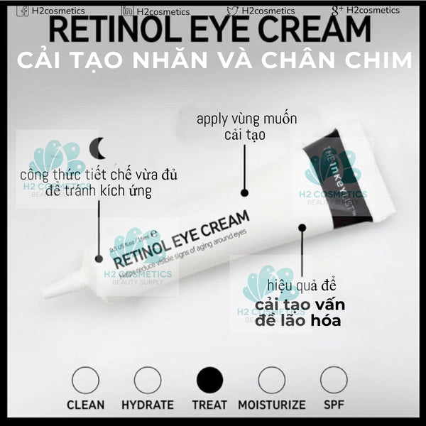 Kem mắt The INKEY List Retinol Eye Cream