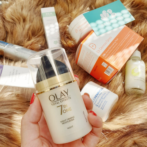 Kem dưỡng Olay Total Effect Night Firming Moisturizer
