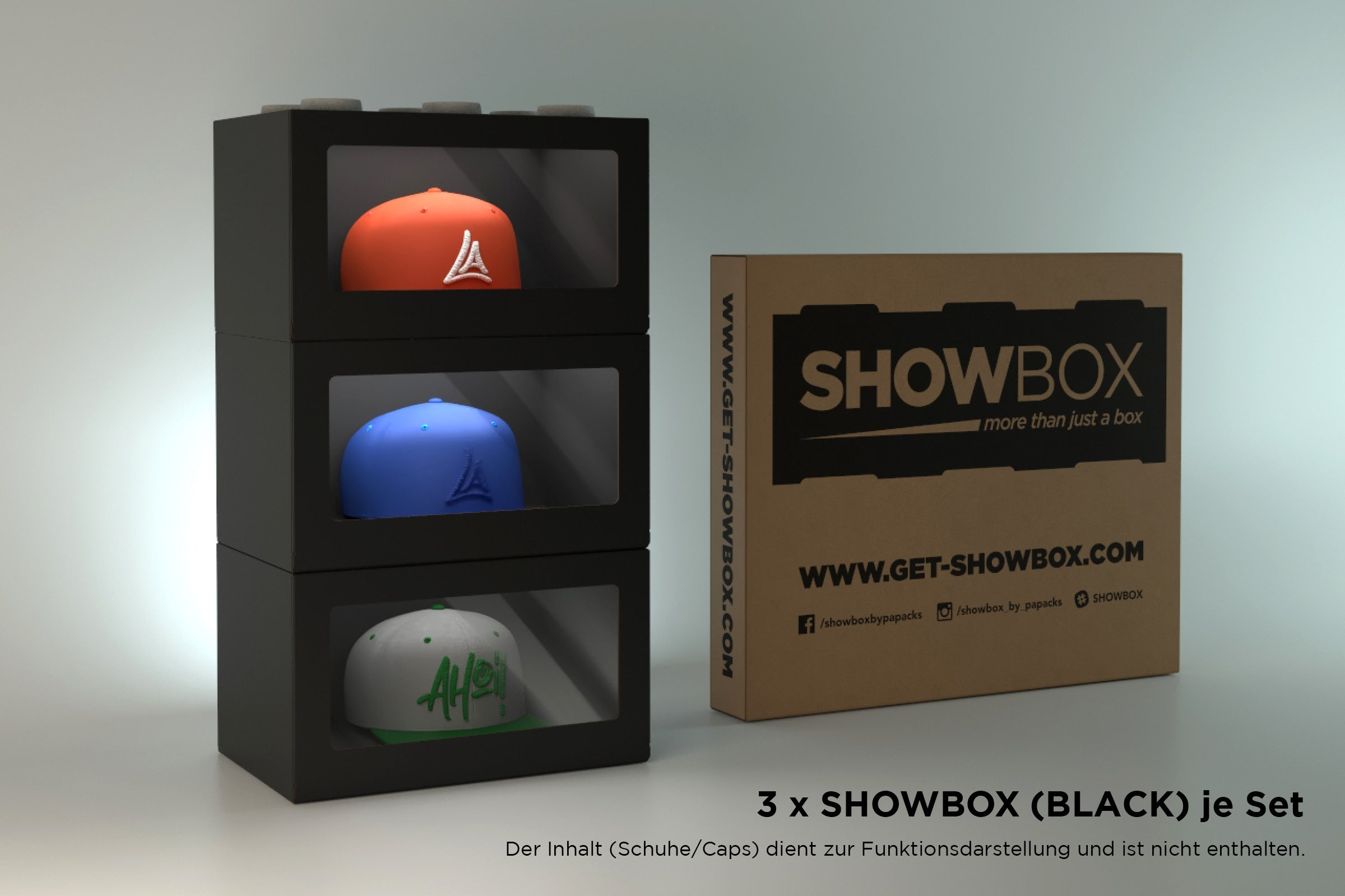 SHOWBOX (3 Stk.) Sneakerbox