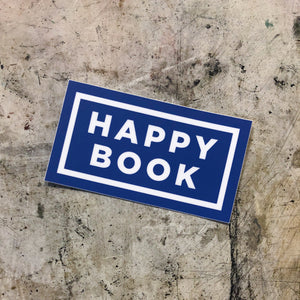 Happy Book Sticker