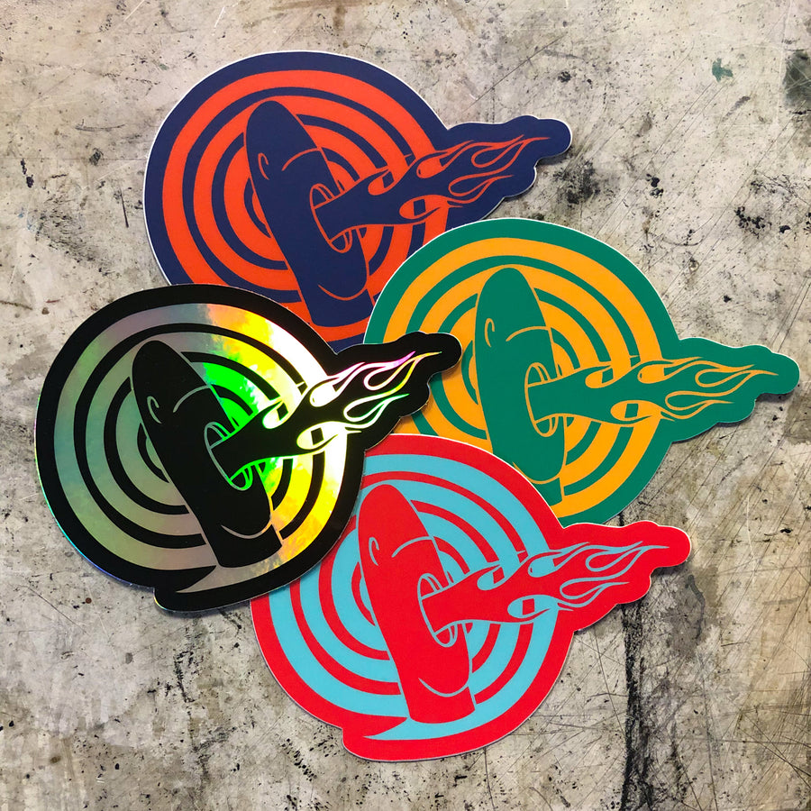 Fire-Breathing Tiki Sticker 4-Pack