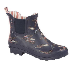 Storm Wells short floral Wellie