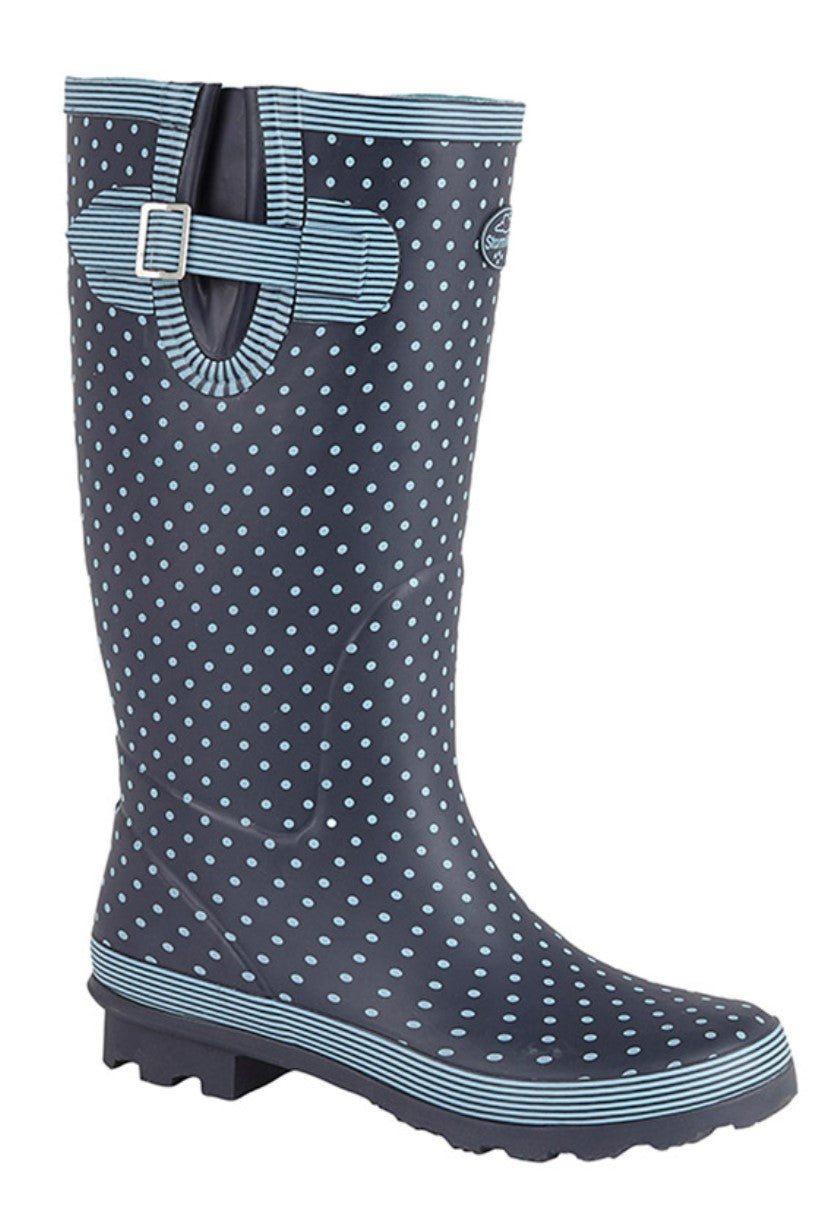 Storm Wells Polka dot wellie