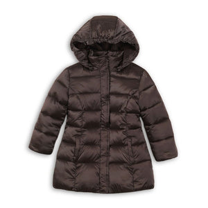 Girls padded puffa Jacket Grey