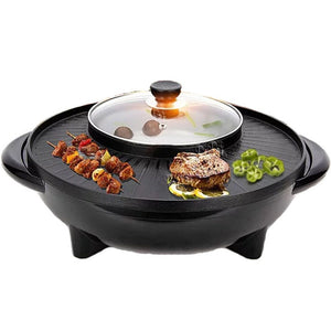 2 in 1 Korean Electrical Hotpot Bbq Grill