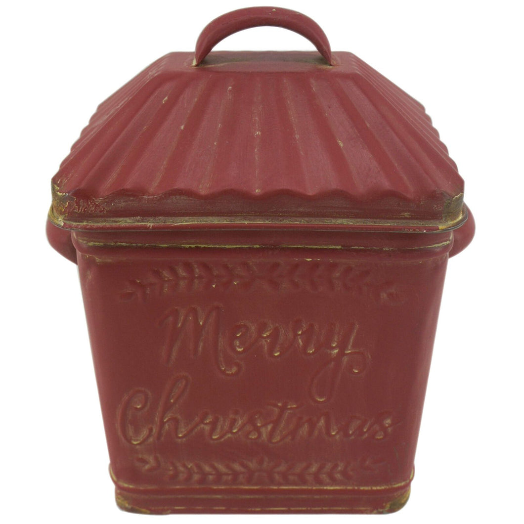 Festive Red Christmas Container