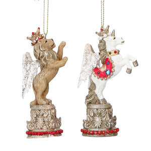 Christmas Lion and Unicorn Tree Decoration