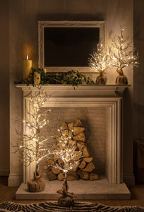 Snowy Hazel Tree 50cm Battery Operated
