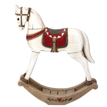Load image into Gallery viewer, Christmas Vintage Style Rocking Horse Ornament