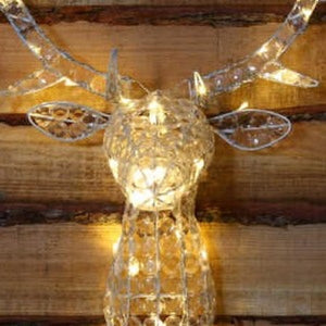 Noma Warm White Jewelled Stags Head 85cm