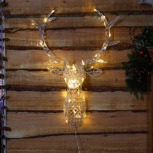 Load image into Gallery viewer, Noma Warm White Jewelled Stags Head 85cm