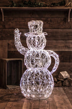 Load image into Gallery viewer, Noma Set of 3 Wicker Snowman Family 300 White LED