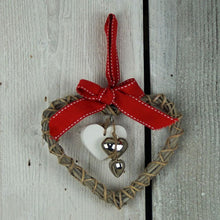 Load image into Gallery viewer, Christmas Wooden Heart Decoration