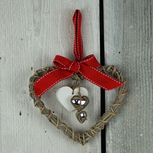 Christmas Wooden Heart Decoration