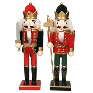Christmas Wooden 31cm Nutcracker with Crown Ornament