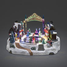 Load image into Gallery viewer, Konstsmide Christmas Musical Fairground Mechanical Village Decoration