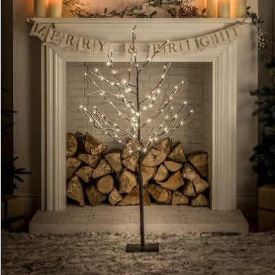 1.2m Snowy Twig Tree with Berries