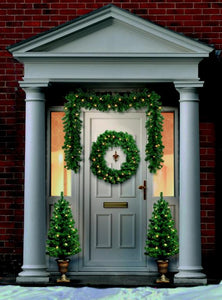 Christmas Door Set Pre Lit
