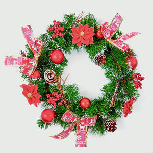 Christmas Red Dressed Wreath 40cm
