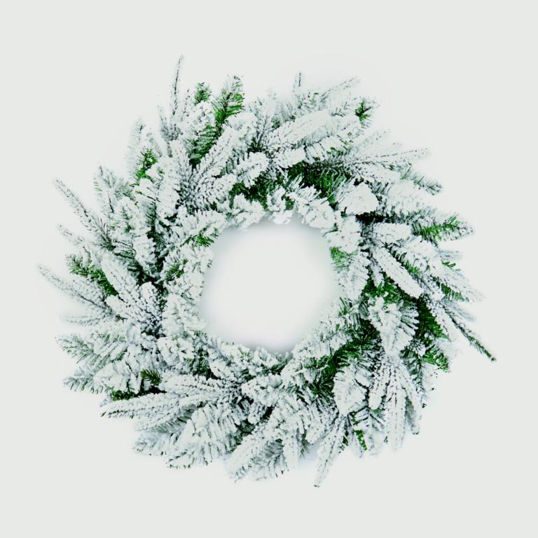 Christmas Snowy Wreath