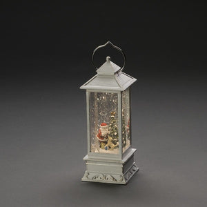 Konstsmide White Distressed Santa and Dog Water Lantern