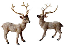 Load image into Gallery viewer, Christmas Stag Ornament with Glitter Effect