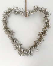 Load image into Gallery viewer, Christmas Silver Berry Heart Shaped Wreath