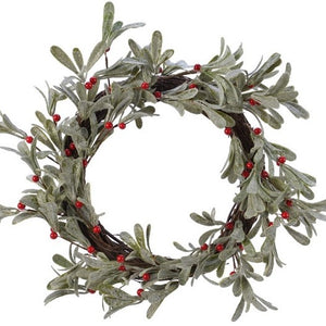 Christmas Mistletoe And Berry Wreath