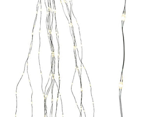 Lumineo Warm White Green Cable Sparkle Tree Lights 210cm