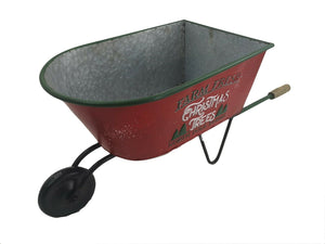 Distressed Xmas Wheelbarrow Garden Planter