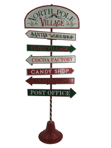 Large 1.2M North Pole Village Outdoor Christmas  Sign