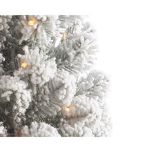 Load image into Gallery viewer, 3ft Snowy Imperial Pine Pre-Lit Tree in Pot