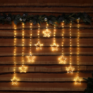 303 Warm White Micro LED Star Curtain Lights