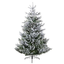 Load image into Gallery viewer, Kaemingk Frosted Arlberg Fir Pre Shaped Christmas Tree 6ft/180cm