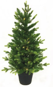3ft Saint Moritz Fir Pre-lit Christmas Tree Battery Operated
