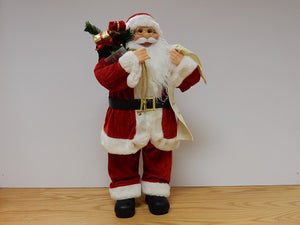 Standing Santa with List 40cm