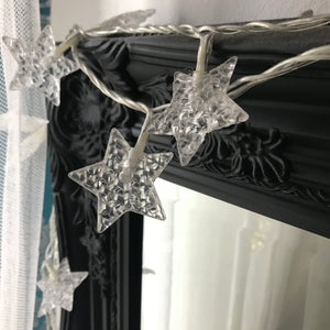Noma Star Garland with 40 White LED Lights